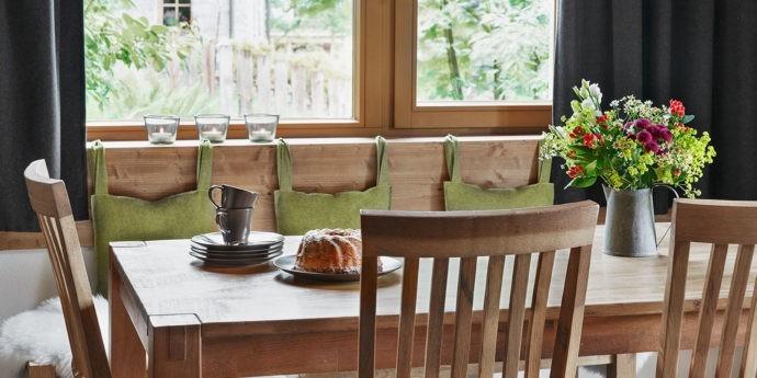 Wohnküche im Ferienhaus in Schladming