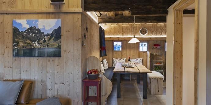 Küche und Wohnzimmer im Bauernhaus