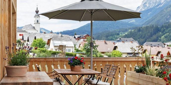 Terrasse von Ferienwohnung