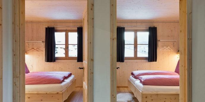 zwei Schlafzimmer in der Ferienwohnung