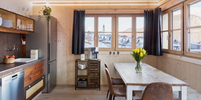Wohnküche im Ferienhaus