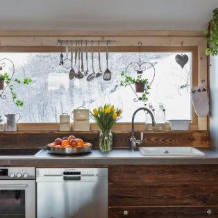 voll ausgestattete Küche im Ferienhaus